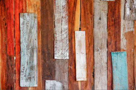 old art colorful wood wall