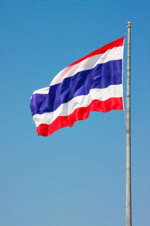 flagstaff: Thailand flag blue sky Stock Photo