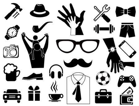 father day icon set for use design