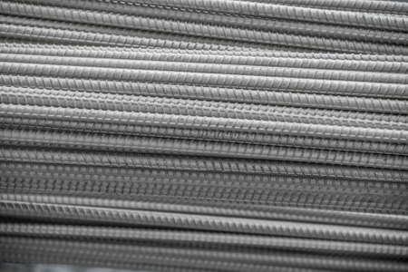 metal mesh: pile steel bar, close up Stock Photo