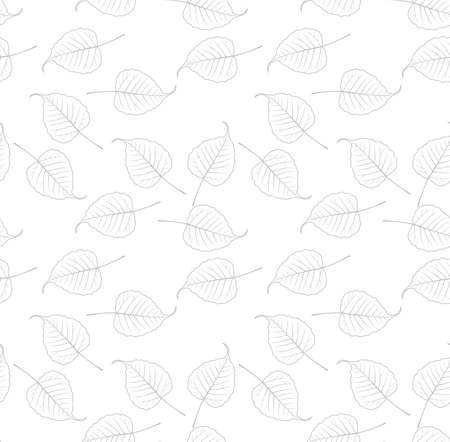 Bo leaf backdrop, vector seamless