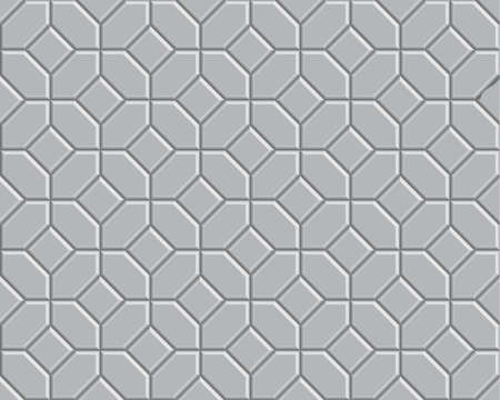 3 D 灰色煉瓦経路パターン