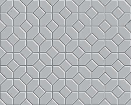3D gray brick pathway pattern