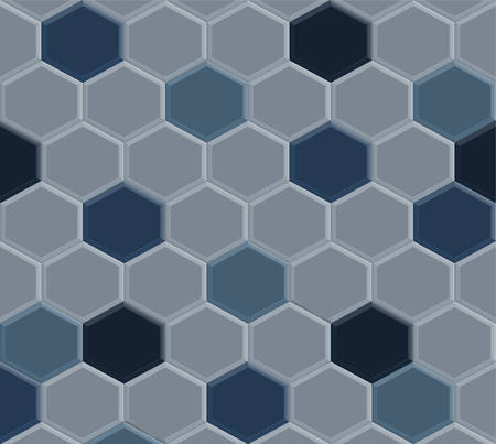 oude stijl van zeshoek blauwe bestrating tegel patroon achtergrond, illustratie ontwerp