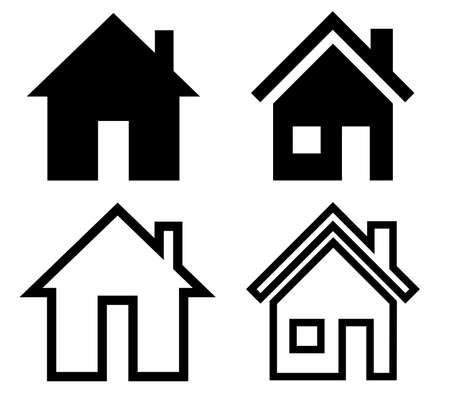 real estate house: home icon set on white background