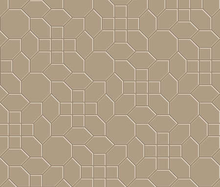 3 D の茶色の煉瓦経路パターン