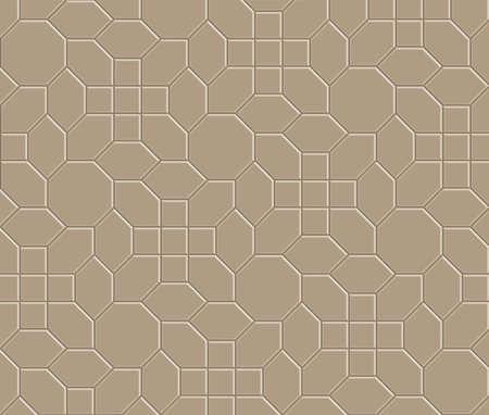 3D brown brick pathway pattern Illustration