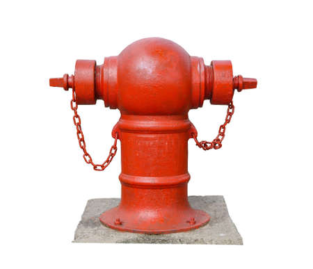 isolate red fire hydrant for security any fire dangerous