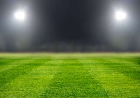 soccer field in night with spotlight