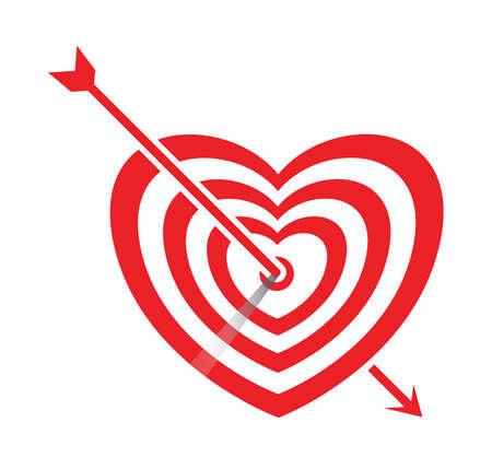 arrow impale on goal heart, mission love complete concept
