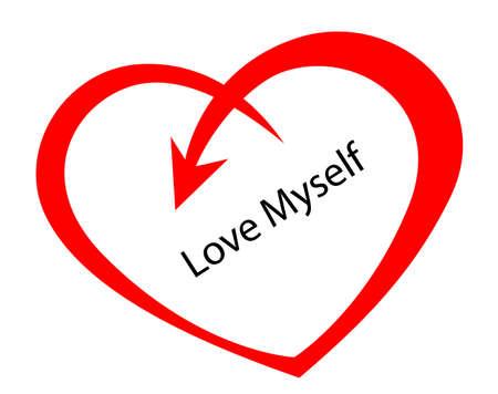 love my self sign concept, vector symbol