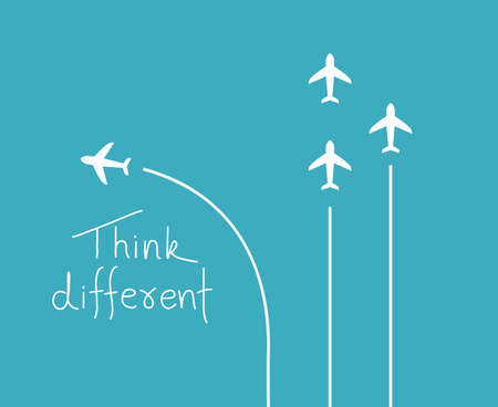 Different think concept 일러스트