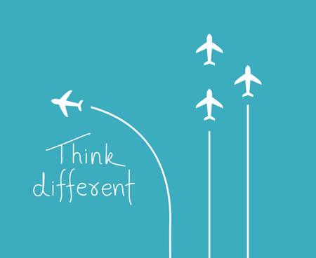 Different think concept Illustration