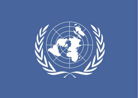 Vlag van de Verenigde Naties voor 10-24 dag van de Verenigde Naties