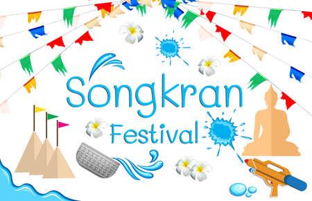 Songkran Festival sign of Thailand