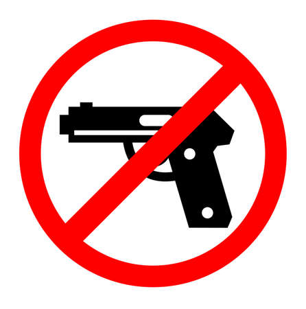 No gun sign symbol, cevtor prohibition