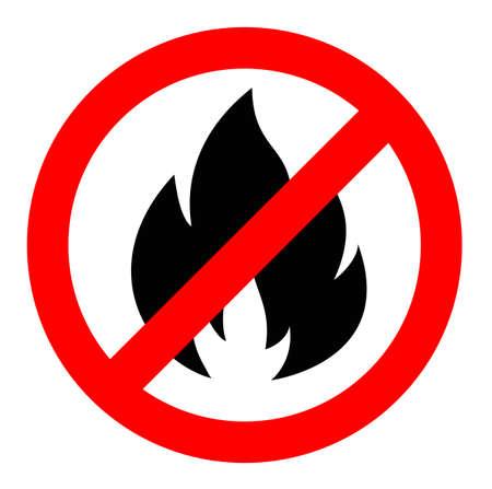 arrêter ou ne pas tirer l'icône de signe, interdiction