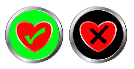 love and no love button, yes and no choice