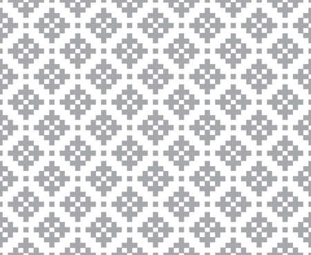 gray abstract cross stitch pattern seamless  on white background