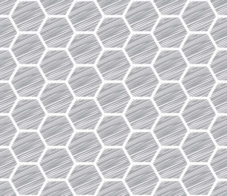 honeycomb sketch pattern seamless, art background vector illustration