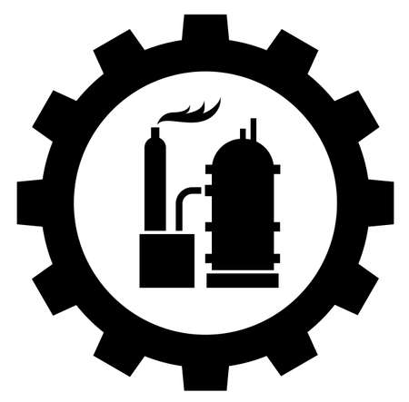 Petrochemical industry icon logo on white background