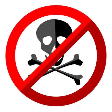 no skull sign on white background 矢量图像