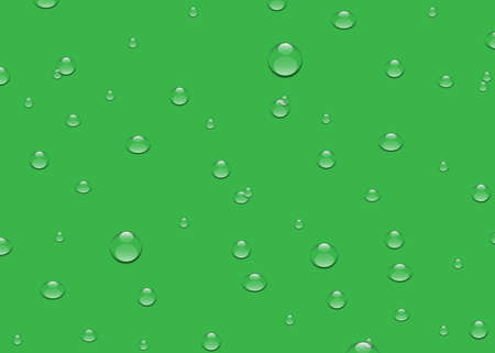 water drop on green background, illustration design