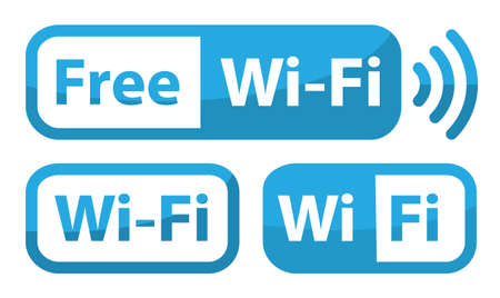 wifi sign flat design, free zone