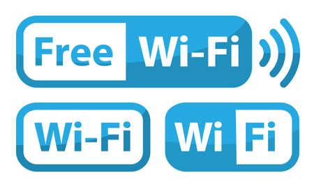 wifi sign flat design, free zone Reklamní fotografie - 128702404