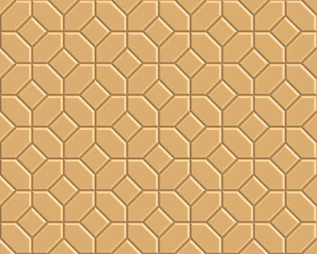 3D yellow brick pathway pattern