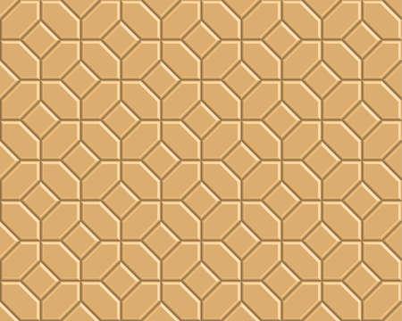 3D yellow brick pathway pattern