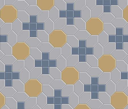 Tekstura wzoru ścieżki cegły 3D Ilustracje wektorowe