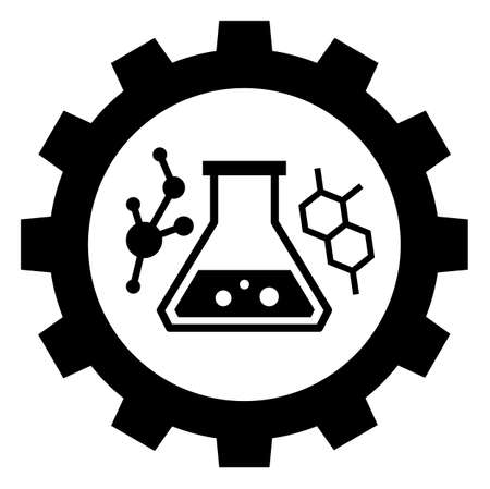 chemical industry sign icon, vector