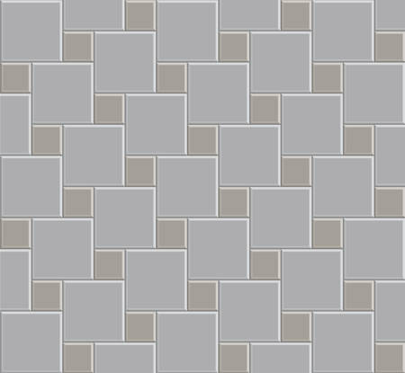 3d tile stone pattern floor, exterior design Ilustrace