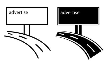 advertise channels on billboard, vector sign, illustration business advert