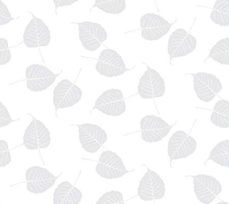 Bo leaf backdrop, vector seamless Reklamní fotografie - 124923466