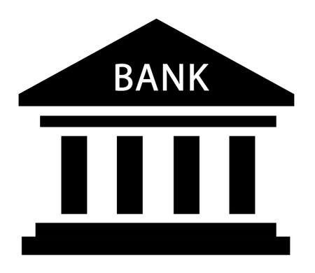 bank icon, simple vector on white background