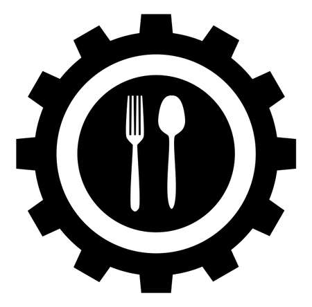food industry icon, vector sign symbol Illusztráció