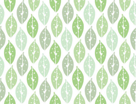 green leaves seamless pattern backdrop for art design decoration, tropical illustration background