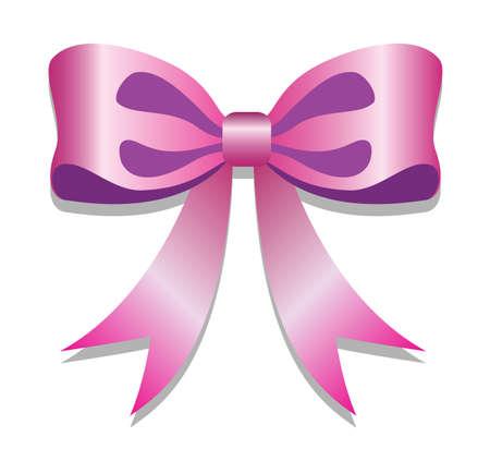 pink ribbon knot on white background, vector draw Reklamní fotografie - 126723435