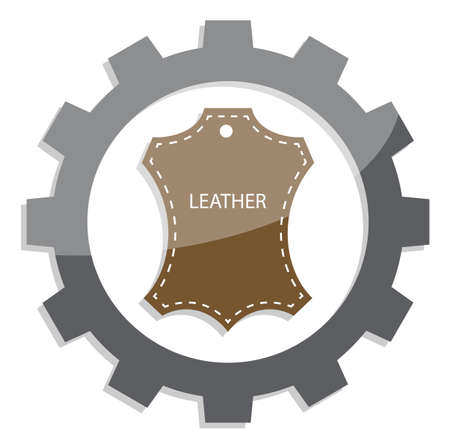leather industry flat icon,  vector illustration on white background Reklamní fotografie - 128701742