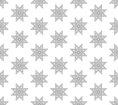 line floral pattern seamless, flora vector illustration backdrop Ilustrace