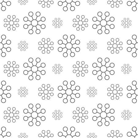 gray flower pattern seamless, line vector illustration backdrop Reklamní fotografie - 128701795