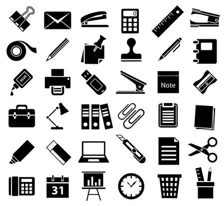 office accessory icon set