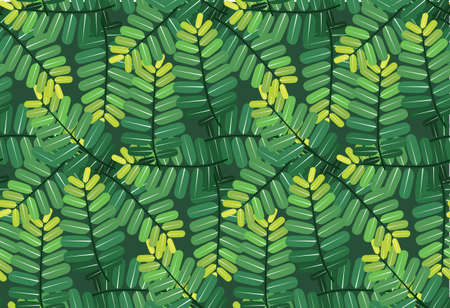 green leaves pattern seamless on black green background