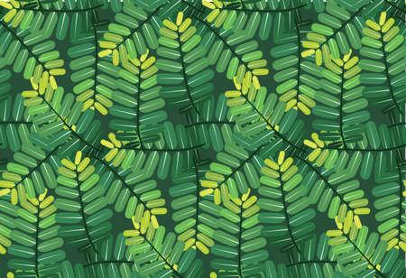 green leaves pattern seamless on black green background Reklamní fotografie - 128701935
