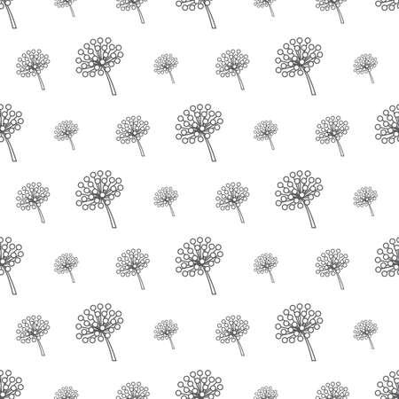 gray flower pattern seamless, line vector illustration backdrop Reklamní fotografie - 128701930