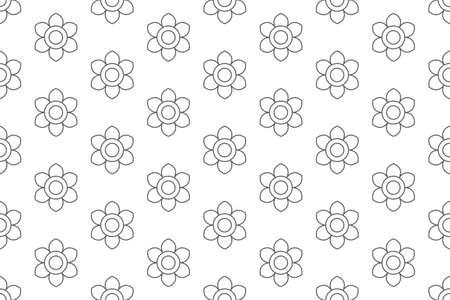 outline lotus flower pattern seamless, vector illustration backdrop