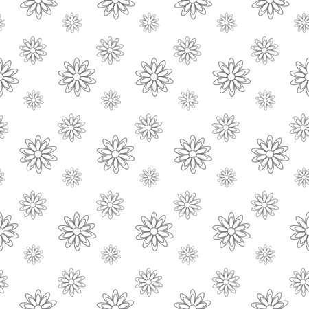 gray flower pattern seamless, line vector illustration backdrop Reklamní fotografie - 128702058