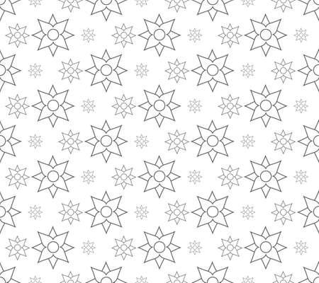 outline floral pattern seamless, flora vector illustration backdrop